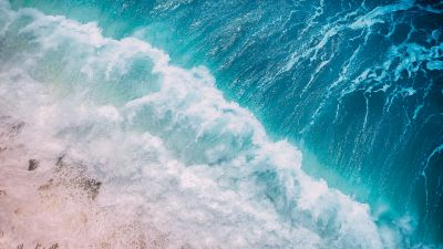 Ocean Waves, Aerial view, Ocean, Water, Drone photo