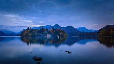 Derwent Island, Derwentwater, Lake District National Park, Cumbria, England, Cold, Body of Water, 5K