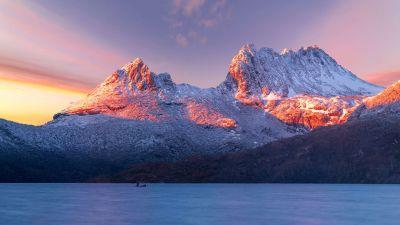 Cradle Mountain, Tasmania, Winter, Sunlight, Morning, Cold, Scenic