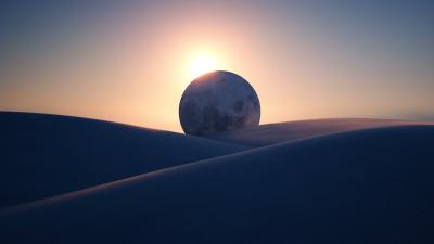 Eclipse, Sun, Moon, Planet, Desert, Microsoft Surface, Stock