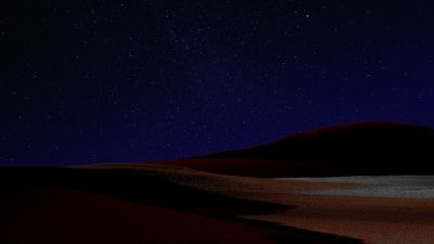 Desert, Starry sky, Dark Sky, Night, Microsoft Surface Pro X, Dark theme, 5K