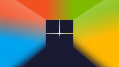 Microsoft Windows, Logo, Gradient background, Colorful background, 5K
