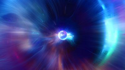 Eye, Bright, 3D, CGI, Blue, Spectrum, Glowing