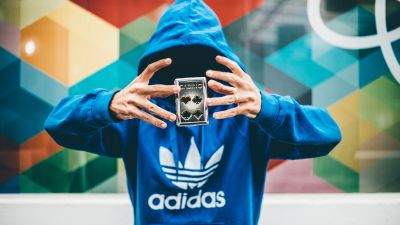 Hoodie, Person, Casino, Man, Hands, Colorful background, 5K