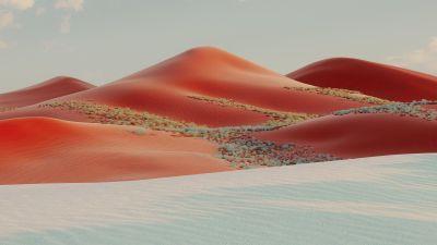 Sand Dunes, Desert, Landscape, Evening, Windows 10X, Microsoft Surface