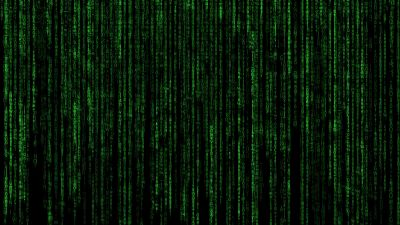 Matrix, Program, Falling, Data illustration, Green Code, Black background, Hacker, Random data, Vertical