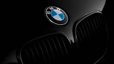 BMW Z3, BMW logo, Black cars, Black background, Front View, Convertible, Grill, Closeup, 5K