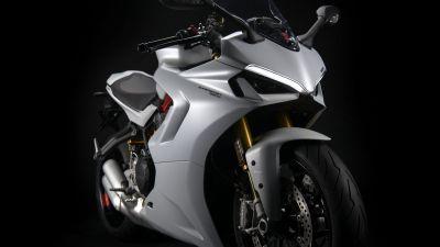 Ducati SuperSport 950, Sports bikes, Black background, 2021, 5K, 8K