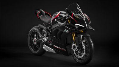 Ducati Panigale V4 SP, 2021, Dark background, 5K, 8K