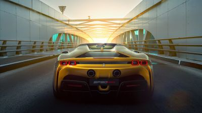Ferrari SF90 Spider, 2021, 5K, 8K
