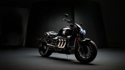 Triumph Rocket 3 TFC, Cafe racer, 2020, Dark background, 5K