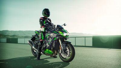 Kawasaki Z H2 SE, Biker, 2021, Sports bikes, Racing bikes