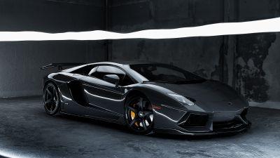 Lamborghini Aventador, Grey, CGI