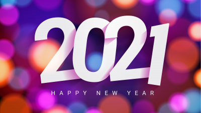 2021 New Year, Happy New Year, Colorful background, Gradient background, Bokeh, Blur, 5K