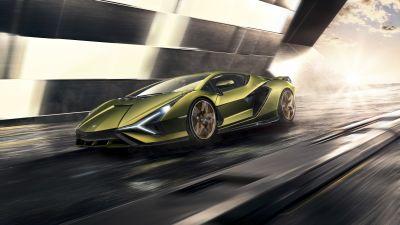 Lamborghini Sián FKP 37, Supercars, Sports cars, Hypercars, 5K, 8K
