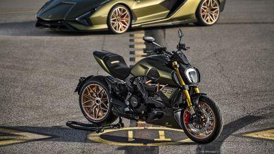 Ducati Diavel 1260 Lamborghini, Lamborghini Sián FKP 37, 2021, 5K