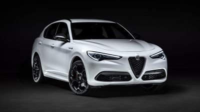 Alfa Romeo Stelvio Veloce Ti, Dark background, 2020, 5K, 8K