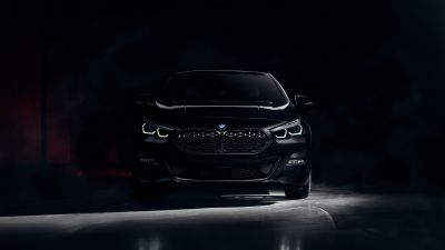 BMW 220d Gran Coupé M Sport, Black Edition, BMW 2 Series, Dark background, 2021, 5K, 8K
