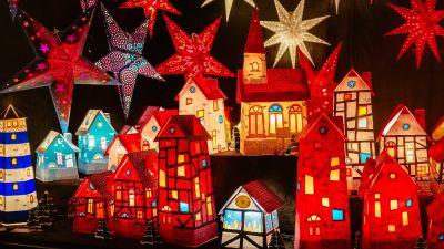 Christmas decoration, Lighting, Stars, Merry Christmas