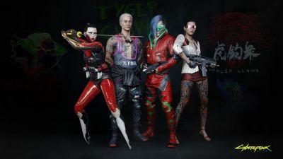 Cyberpunk 2077, Tyger Claws, Night City, Gangs, 2020 Games