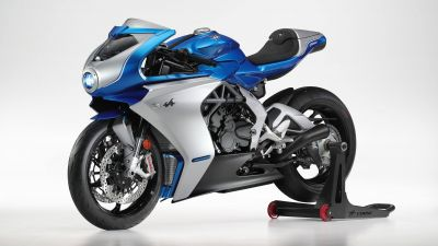 MV Agusta Superveloce Alpine, Limited edition, 2021, White background, 5K