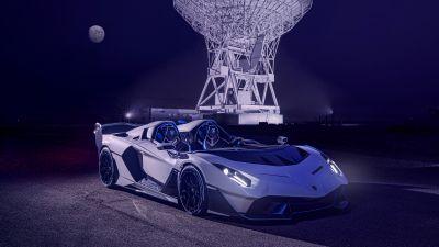 Lamborghini SC20, 2021, Full moon, Night