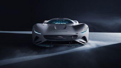 Jaguar Vision Gran Turismo SV, Hypercars, Concept cars, Dark background, 2021, 5K