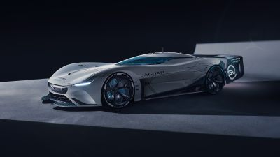 Jaguar Vision Gran Turismo SV, Hypercars, Concept cars, Black background, 2021, 5K