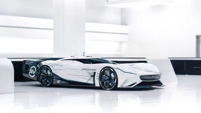Jaguar Vision Gran Turismo SV, Hypercars, Concept cars, 2021, 5K, White background