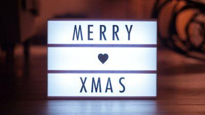 Merry Xmas, Merry Christmas, Lightbox, Love heart