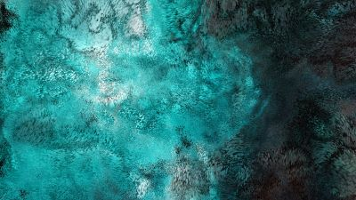 Swarm, Particles, Turquoise, Teal