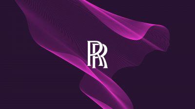 Rolls-Royce, Purple background, Logo
