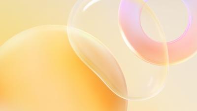 Huawei Nova 8 Pro, Bubble, Circle, White background, Yellow, Stock, Aesthetic