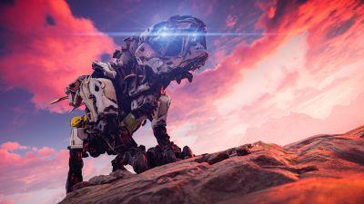 Sawtooth, Horizon Zero Dawn, PlayStation 4, Screenshot, 5K