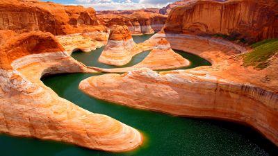 Glen Canyon, Utah, United States, Colorado River, Lake Powell, OS X Mountain Lion, Stock