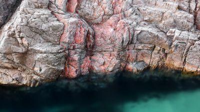 macOS Big Sur, Rocks, Waters Edge, Stock, 5K