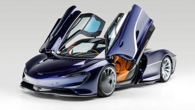 McLaren Speedtail, White background, 2021