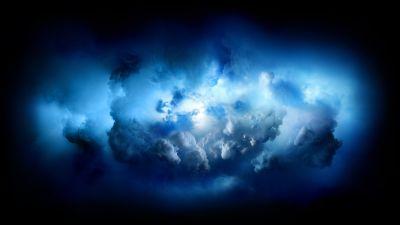 Storm, Clouds, Blue, iMac Pro, Stock, 5K