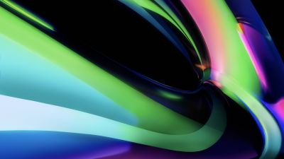 MacBook Pro, Apple M1, Multicolor, Light green, Glossy, Stock, 5K