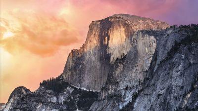 OS X Yosemite, El Capitan, Summit, Yosemite National Park, Yosemite Valley, Evening, Peak, Stock, California, 5K