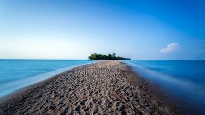 Point Pelee Provincial Park, Ontario, Canada, Landscape, Long exposure, Body of Water, Island, Blue Sky, Horizon