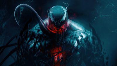 Venom, Spider-Man, Marvel Superheroes, Dark, 5K