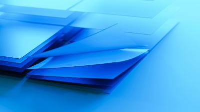 Windows logo, Blue, Layers, 5K