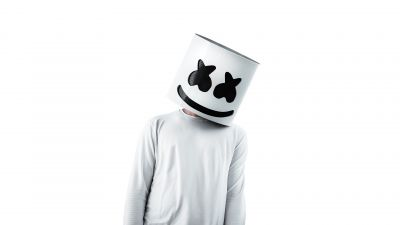 Marshmello, American DJ, White background