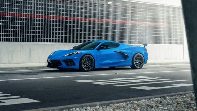 Chevrolet Corvette C8, Blue, Tarmac, 5K
