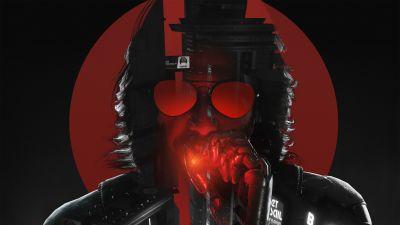 Johnny Silverhand, Cyberpunk 2077, Keanu Reeves, Game Art, Fan Art, 2021 Games, Dark