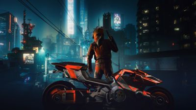Yaiba Kusanagi CT-3X, Cyberpunk 2077, Cyberpunk bike, 2021 Games