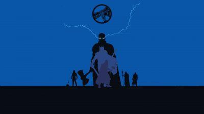 Thor, God of Thunder, Stormbreaker, Minimal art, Marvel Superheroes