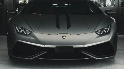 Lamborghini Huracan, Monochrome, Grey