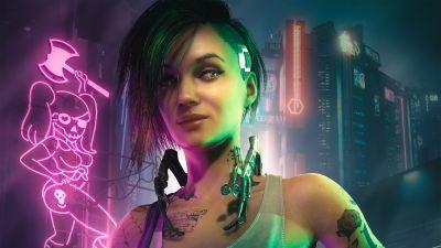 Judy Alvarez, Cyberpunk 2077, Cyberpunk girl, 2021 Games